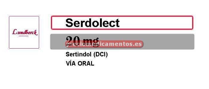 Caja SERDOLECT 20 mg 28 comprimidos