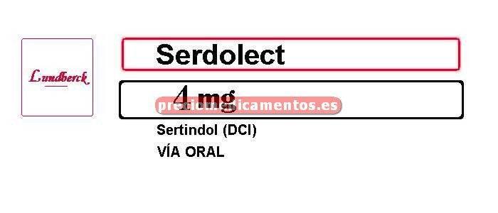 Caja SERDOLECT 4 mg 30 comprimidos