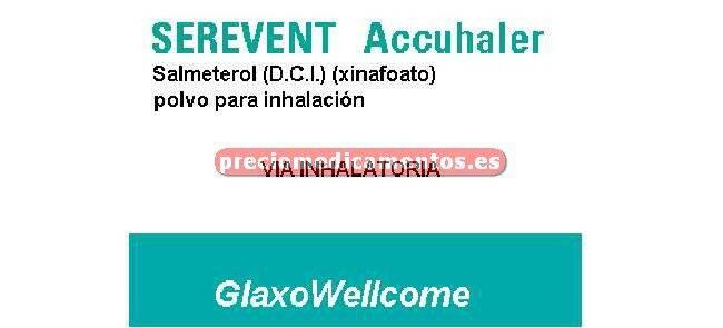 Caja SEREVENT ACCUHALER 50 mcg/dosis polvo inhal 60 alv