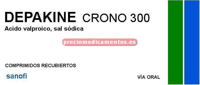 """Caja DEPAKINE CRONO """"300"""" mg 100 comprimidos recub"""