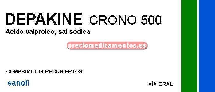 """Caja DEPAKINE CRONO """"500"""" mg 100 comprimidos recub"""