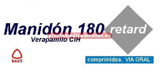 Caja MANIDON RETARD 180 mg 60 comprimidos liber prolongada