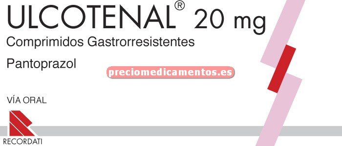 Caja ULCOTENAL 20 mg 28 comprimidos gastror BLISTER