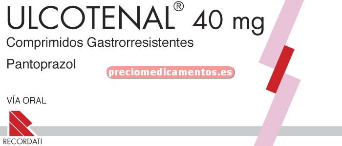Caja ULCOTENAL 40 mg 14 comprimidos gastror BLISTER