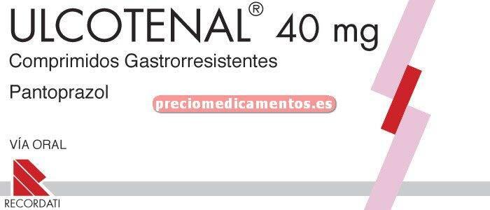 Caja ULCOTENAL 40 mg 28 comprimidos gastror BLISTER