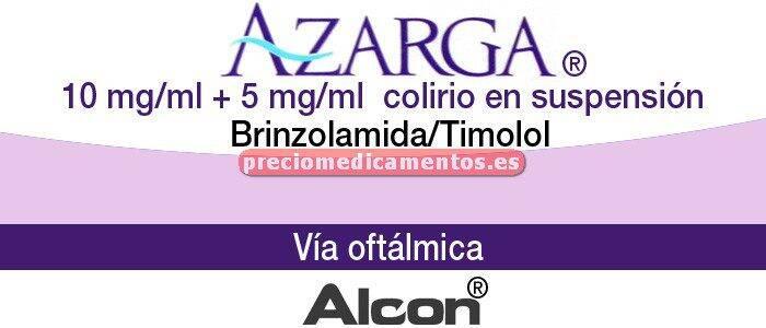 Caja AZARGA suspensión colirio 5 ml