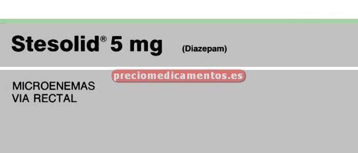 Caja STESOLID 5 mg 5 microenemas