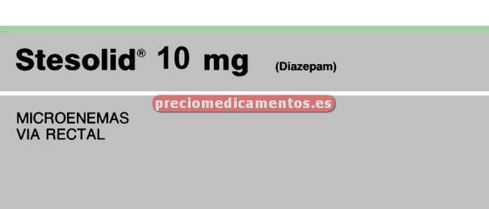 Caja STESOLID 10 mg 5 microenemas