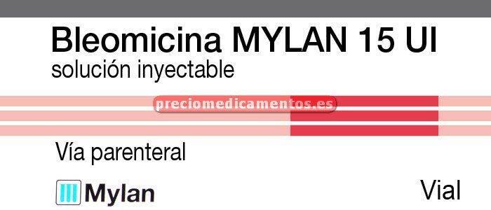 Caja BLEOMICINA MYLAN 15000 UI 1 vial - 1 ampolla
