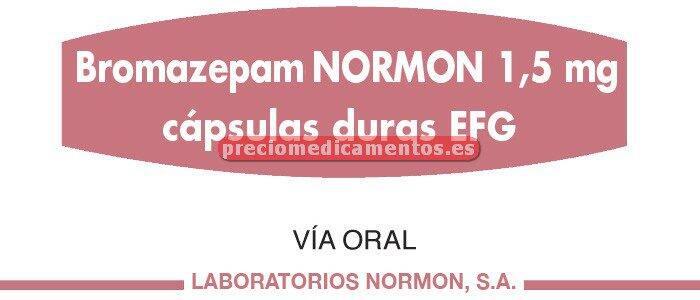Caja BROMAZEPAM NORMON EFG 1.5 mg 30 cápsulas