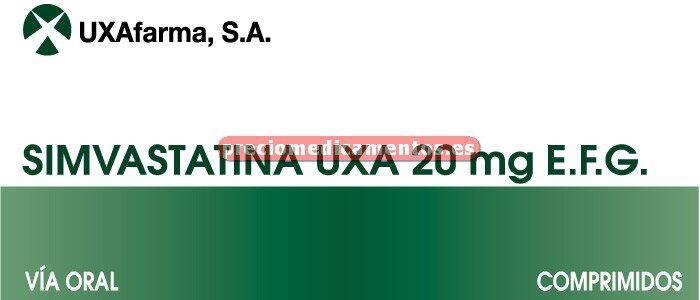 Caja SIMVASTATINA UXA EFG 20 mg 28 comprimidos recub