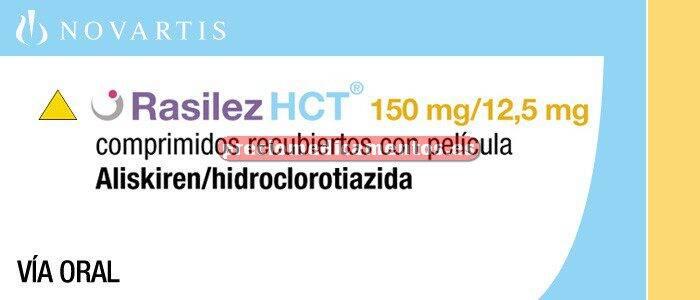 Caja RASILEZ HCT 150/12,5 mg 28 comprimidos recubiertos
