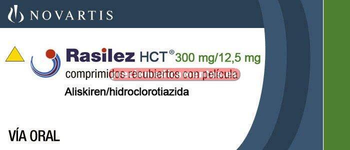 Caja RASILEZ HCT 300/12,5 mg 28 comprimidos recubiertos