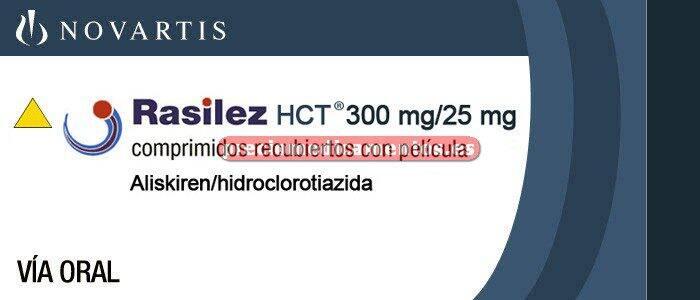 Caja RASILEZ HCT 300/25 mg 28 comprimidos recubiertos