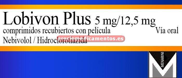 Caja LOBIVON PLUS 5/12,5 mg 28 comprimidos recubiertos
