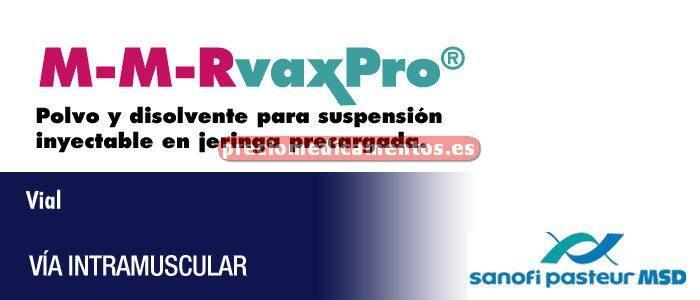 Caja M-M-RVAXPRO 1 vial - 1 jeringa - 2 agujas