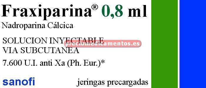 Caja FRAXIPARINA 7.600 UI 10 jeringas 0.8 ml