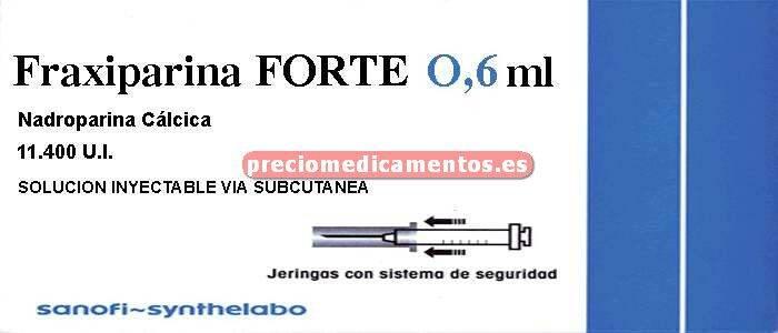 Caja FRAXIPARINA FORTE 11.400 UI 10 jeringas 0.6 ml