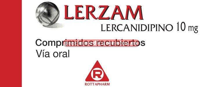 Caja LERZAM 10 mg 28 comprimidos recubiertos