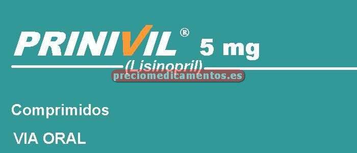 Caja PRINIVIL 5 mg 60 comprimidos