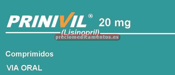 Caja PRINIVIL 20 mg 28 comprimidos