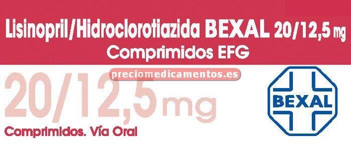 Caja LISINOPRIL/HCTZ BEXAL EFG 20/12,5 mg 28 compr