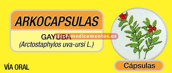 Caja ARKOCÁPSULAS GAYUBA 350 mg 48 cápsulas
