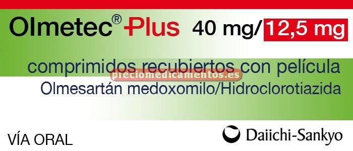 Caja OLMETEC PLUS 40/12,5 mg 28 comprimidos recubiertos