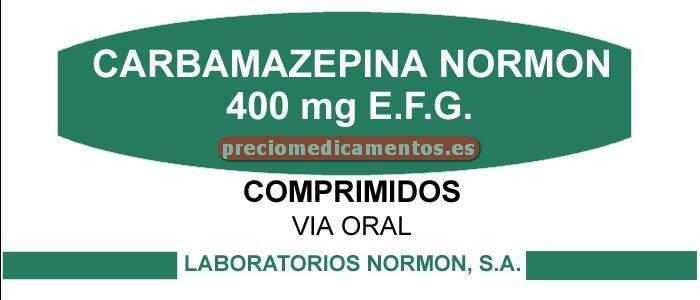 Caja CARBAMAZEPINA NORMON EFG 400 mg 100 comprimidos
