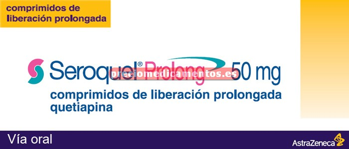 Caja SEROQUEL PROLONG 50 mg 10 compr liber prolongada