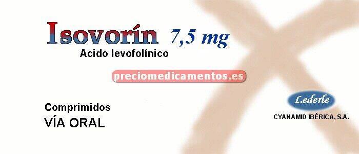 Caja ISOVORIN 7.5 mg 30 comprimidos