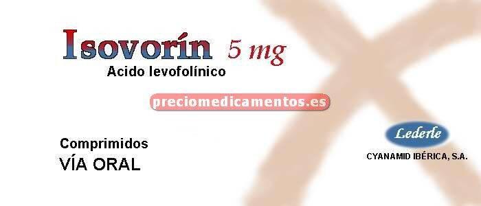 Caja ISOVORIN 5 mg 30 comprimidos