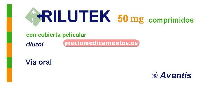 Caja RILUTEK 50 mg 56 comprimidos