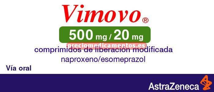 Caja VIMOVO 500/20 mg 60 comprimidos liber prolongada