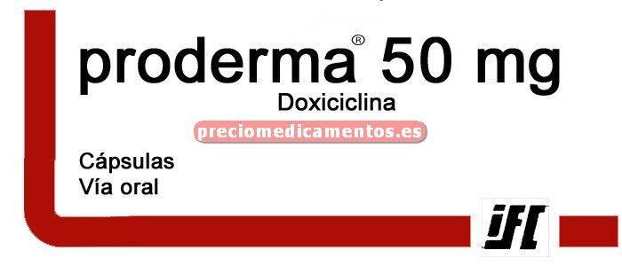 Caja PRODERMA 50 mg 30 cápsulas