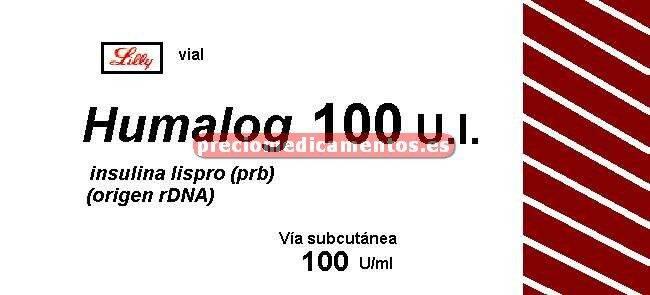 Caja HUMALOG 100 UI/ml 1 vial 10 ml