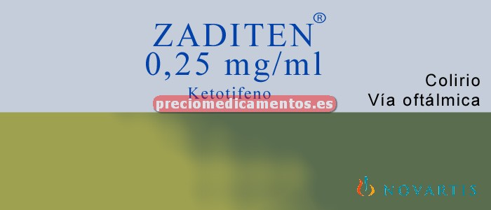Caja ZADITEN 0.025% 20 colirio 20 monodosis 0,4 ml