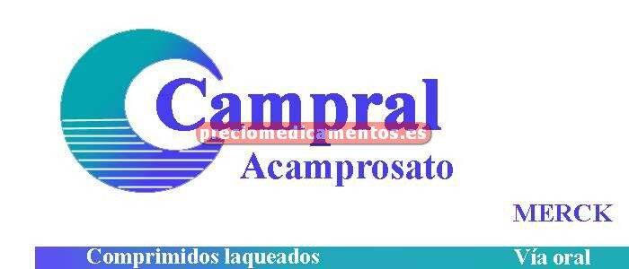 Caja CAMPRAL 333 mg 84 comprimidos recubiertos
