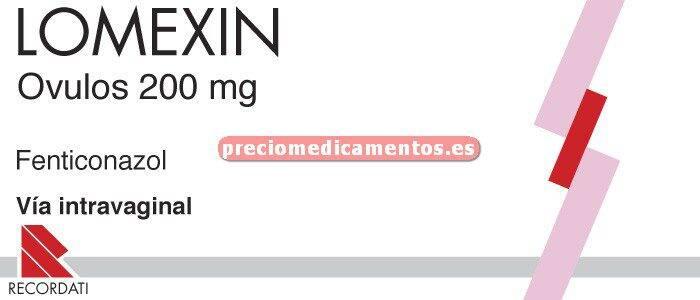 Caja LOMEXIN VAGINAL 200 mg 3 óvulos
