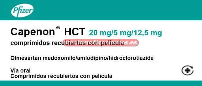 Caja CAPENON HCT 20/5/12,5 mg 28 comprimidos rec