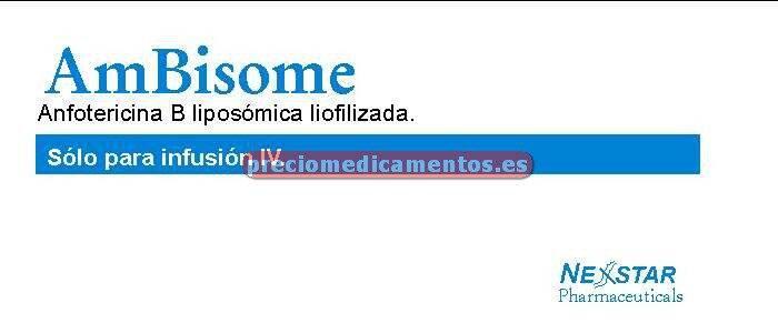 Caja AMBISOME 50 mg 10 viales 15 ml