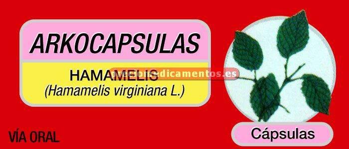 Caja ARKOCÁPSULAS HAMAMELIS 290 mg 48 cápsulas