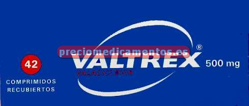 Caja VALTREX 500 mg 42 comprimidos cubierta pelicular