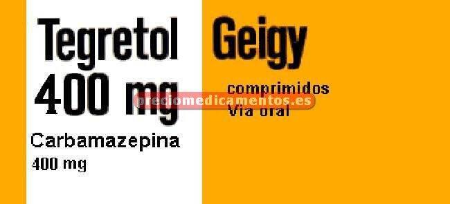 Caja TEGRETOL 400 mg 100 compr BLISTER AL/PVC/PE/PVDC