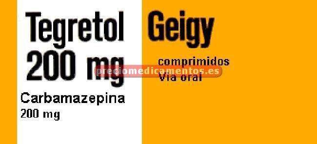 Caja TEGRETOL 200 mg 50 compr BLISTER AL/PVC/PE/PVDC