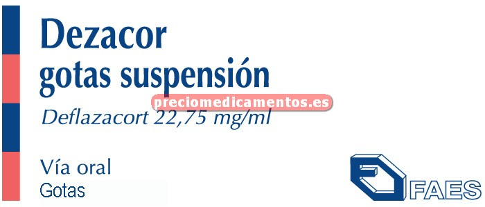 Caja DEZACOR 22.75 mg/ml gotas 13 ml