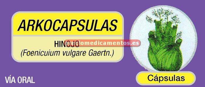 Caja ARKOCÁPSULAS HINOJO 300 mg 50 cápsulas