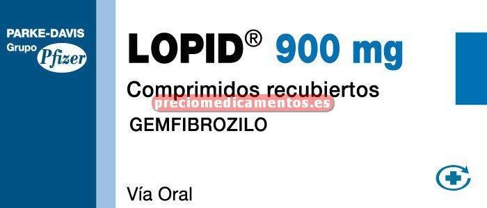 Caja LOPID 900 mg 30 comprimidos