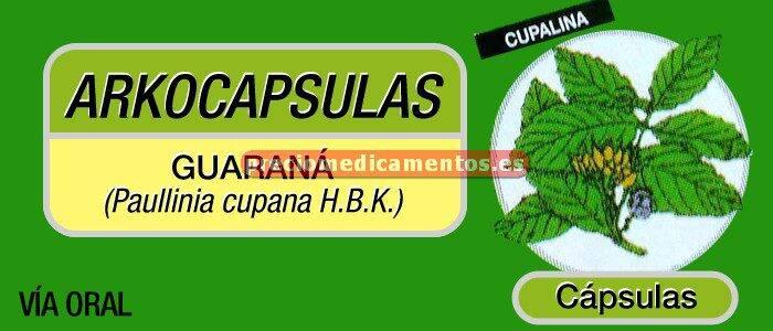 Caja ARKOCÁPSULAS GUARANÁ 340 mg 50 cápsulas