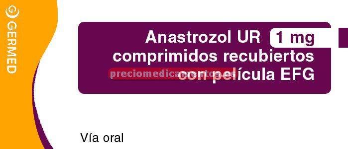 Caja ANASTROZOL UR EFG 1 mg 28 comprimidos
